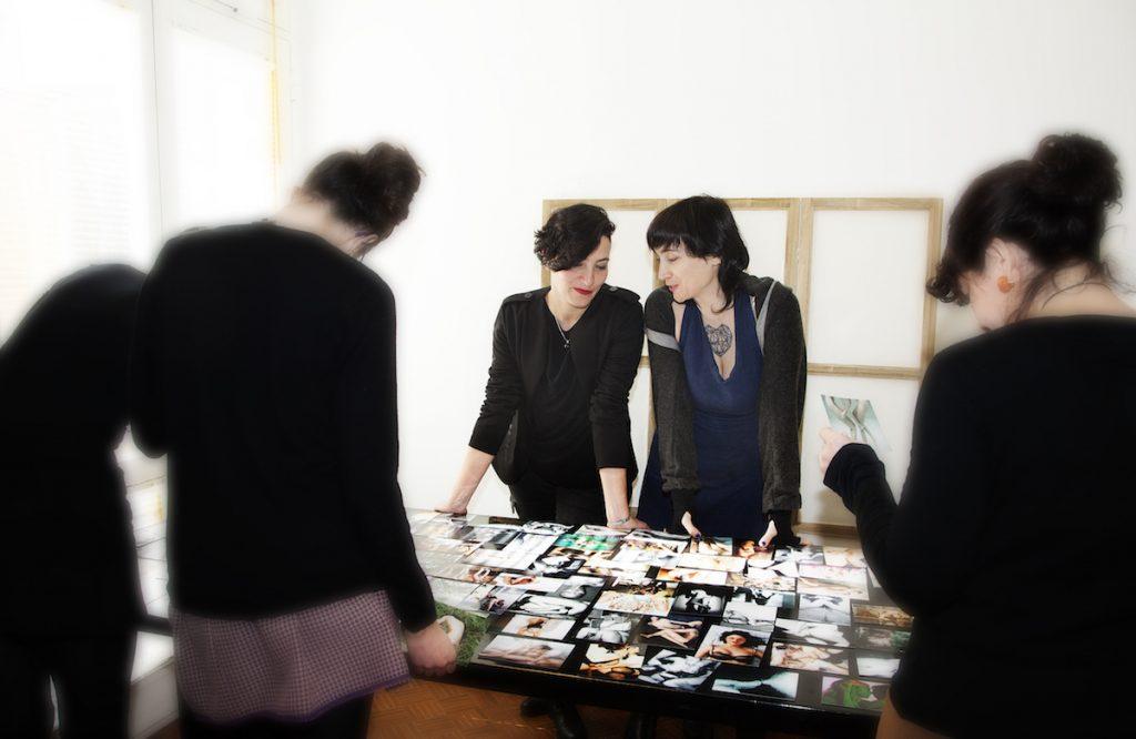 Serena Calò e Slavina durante un laboratorio di Psicoerotica Femminista